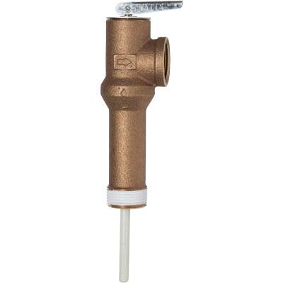 Reliance 3/4 In. MIPS Inlet X 3/4 In. FIPS Outlet Long Shank Temperature & Pressure Relief Valve