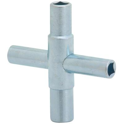 Jones Stephens 4-Way Lawn Faucet Key for 1/4, 9/32, 5/16, 11/32 In. Stems