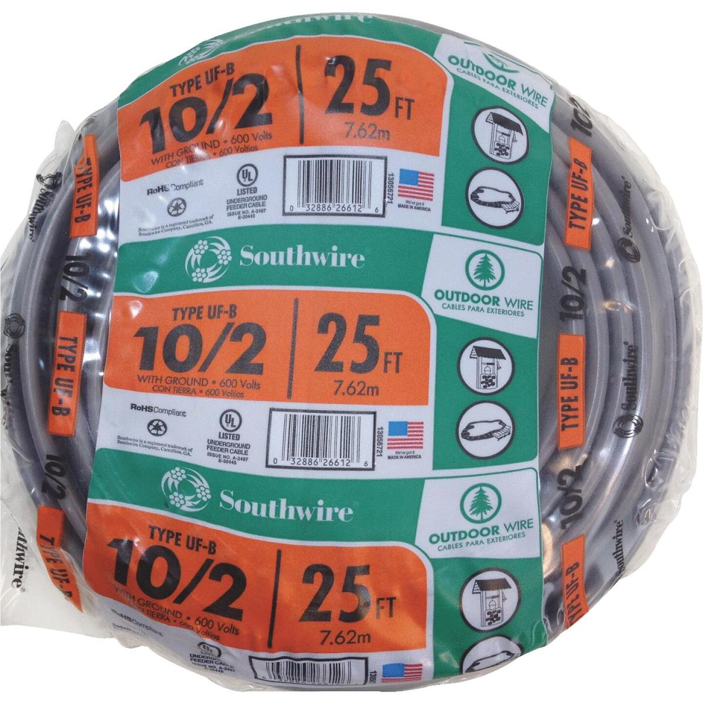 Southwire 25 Ft. 10 AWG 3-Conductor UFW/G Wire Image 1