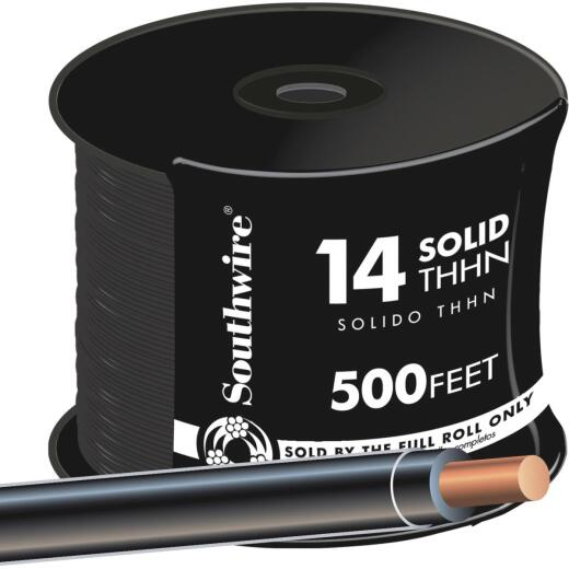 Southwire 500 Ft. 14 AWG Solid Black THHN Wire