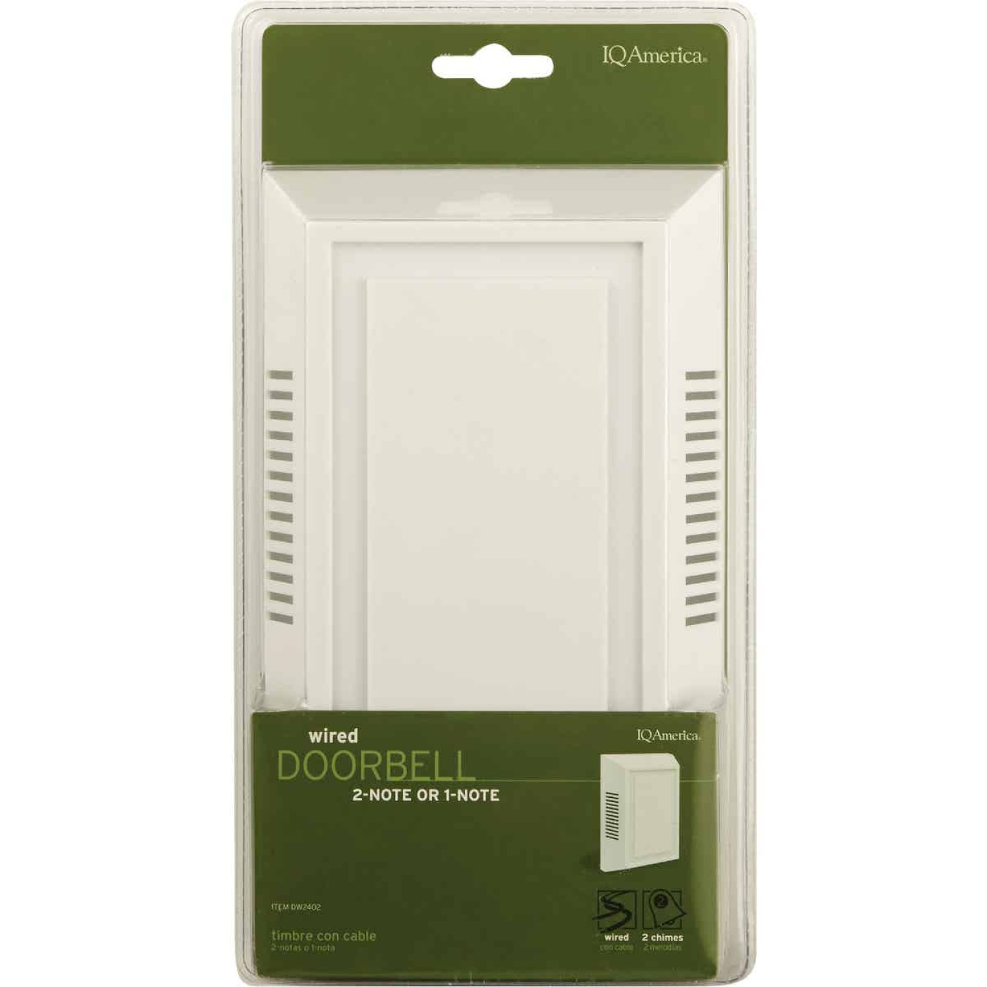 IQ America Wired White Contemporary Door Chime Image 2