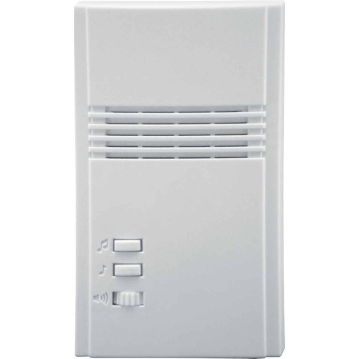 IQ America White Plug-In Wireless Off-White Chime Receiver