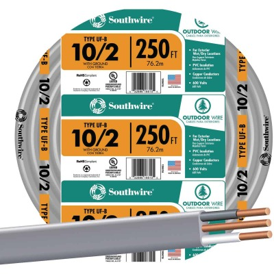 Southwire 250 Ft. 10 AWG 2-Conductor UFW/G Wire