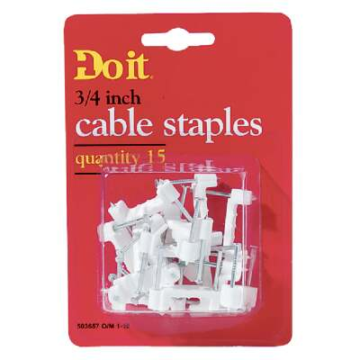 Do it 3/4 In. Plastic Cable Staple (15-Count)