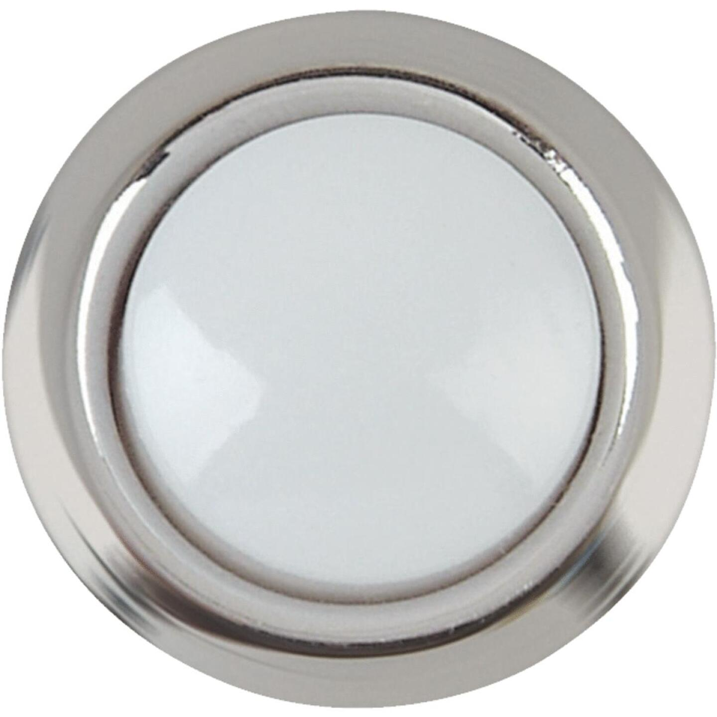 IQ America Wired Silver Round Lighted Doorbell Push-Button Image 1