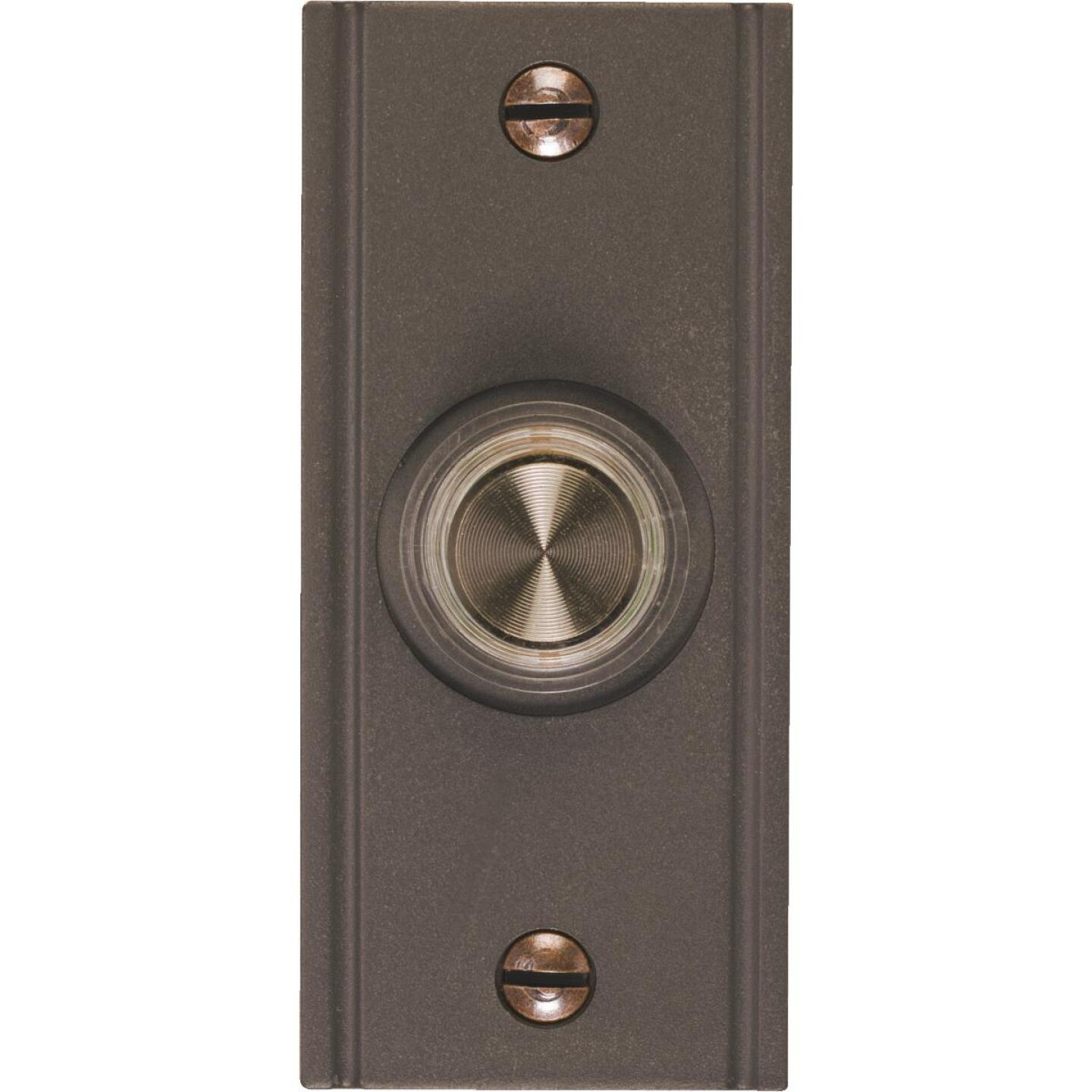 IQ America Wired Oil Rubbed Bronze Brass Lighted Doorbell Push-Button Image 1