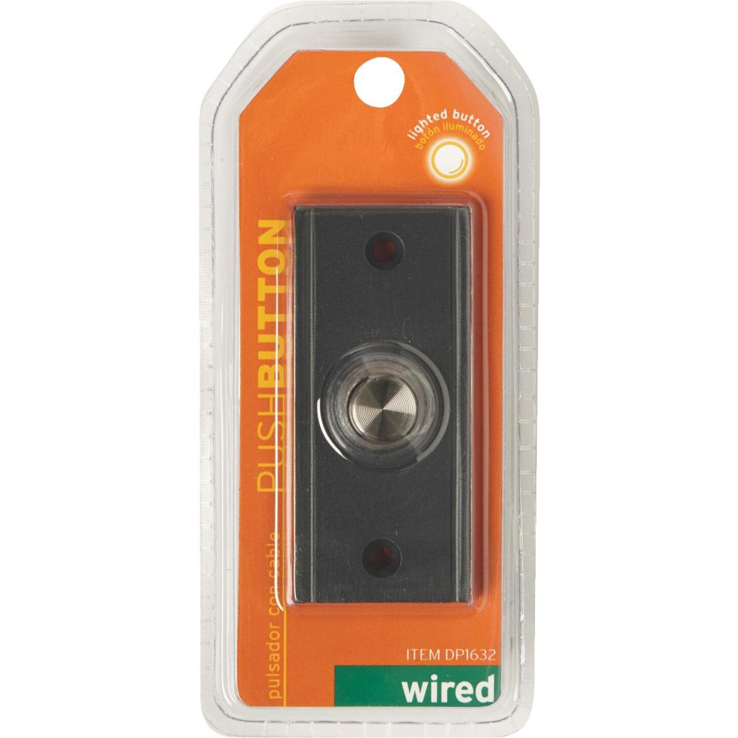 IQ America Wired Oil Rubbed Bronze Brass Lighted Doorbell Push-Button Image 2