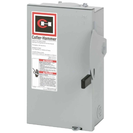 Eaton 30A DG Series Rainproof General-Duty Safety Switch