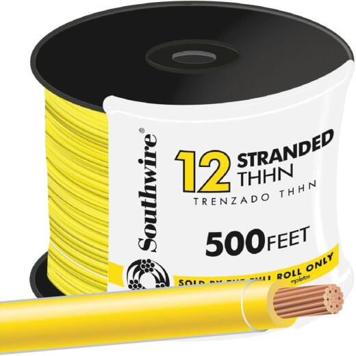Southwire 500 Ft. 12 AWG Stranded Yellow THHN Wire