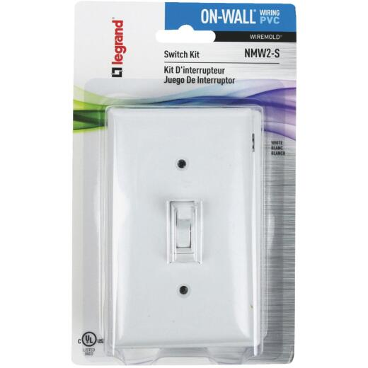 Wiremold On-Wall White PVC 1 In. Switch Box Kit