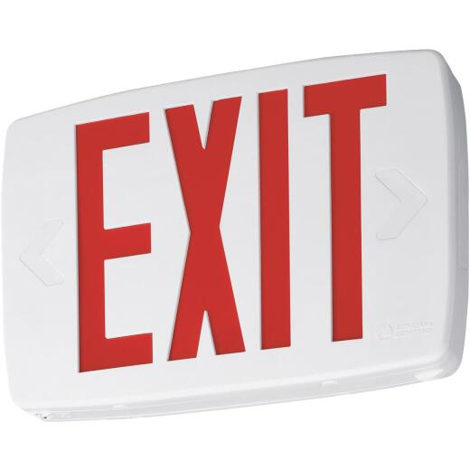 Lithonia Quantum Red Lettering Thermoplastic LED Exit Light