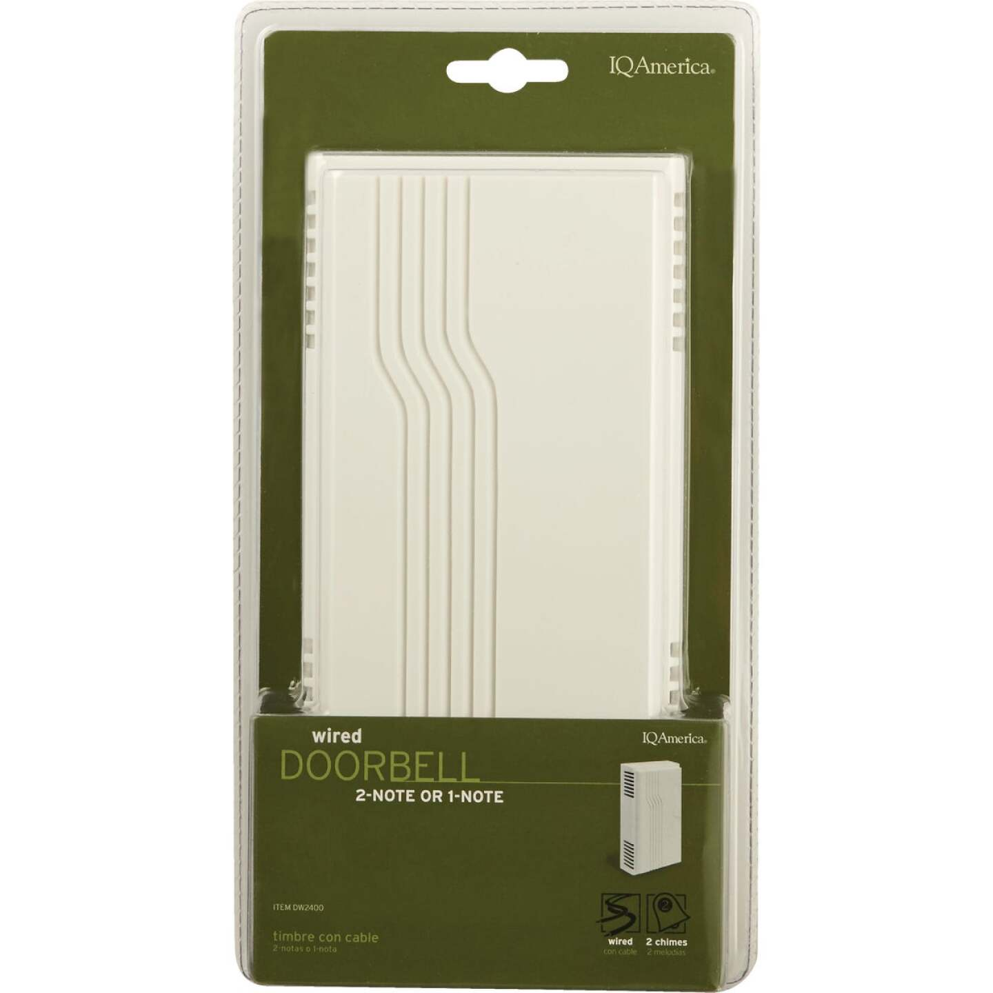 IQ America Off-White Plastic Wired Door Chime Image 2