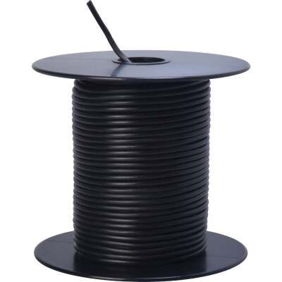 ROAD POWER 100 Ft. 18 Ga. PVC-Coated Primary Wire, Black