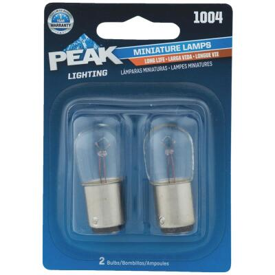 PEAK 1004 12.8V Mini Incandescent Automotive Bulb (2-Pack)