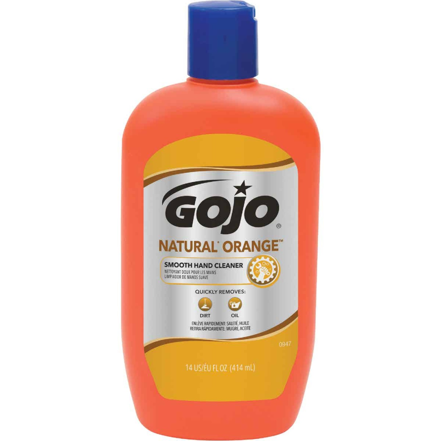 GOJO Natural Orange 14 Oz. Smooth Hand Cleaner Image 1