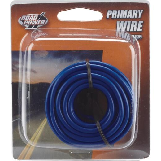 ROAD POWER 17 Ft. 14 Ga. PVC-Coated Primary Wire, Blue