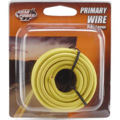 ROAD POWER 17 Ft. 14 Ga. PVC-Coated Primary Wire, Yellow