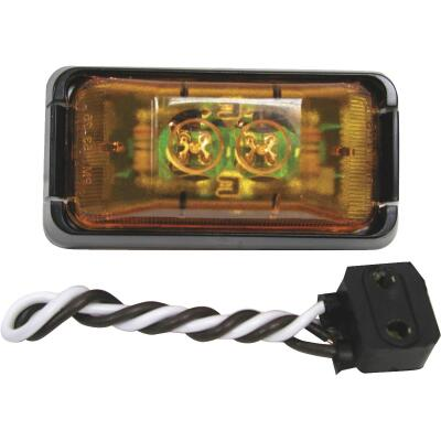 Peterson Rectangle Amber Clearance Light