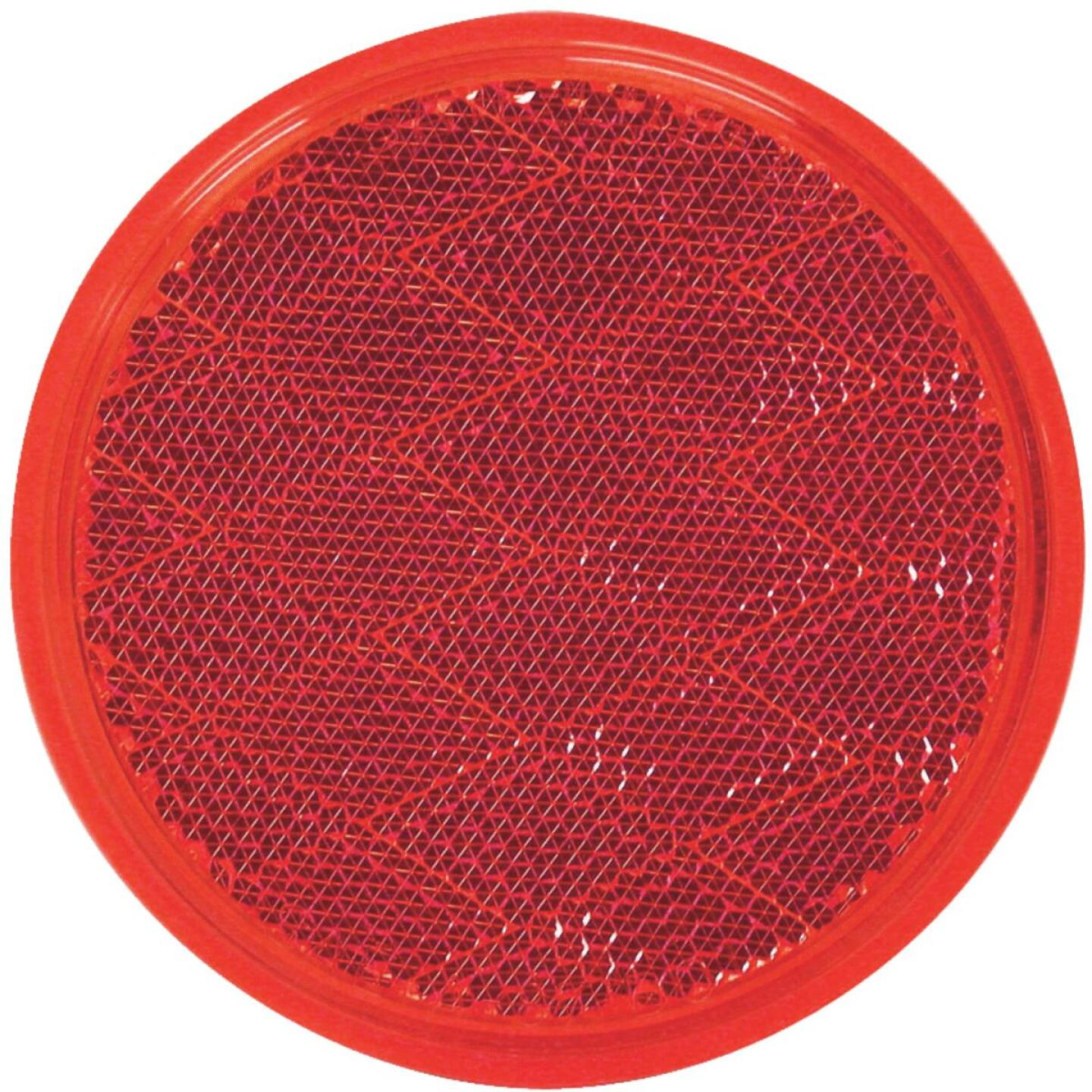 Peterson 3 In. Dia. Round Red Quick-Mount Reflector Image 1