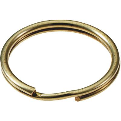 Lucky Line Tempered Steel Brass-Plated 1 In. Key Ring (2-Pack)