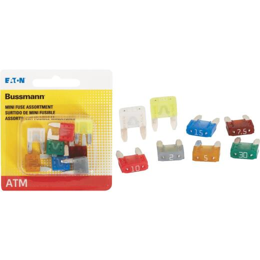 Bussmann ATM Mini Blade Fuse Assortment (8-Pack)