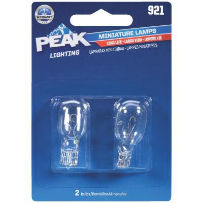 PEAK 921 12.8V Mini IncandescentAutomotive Bulb (2-Pack)