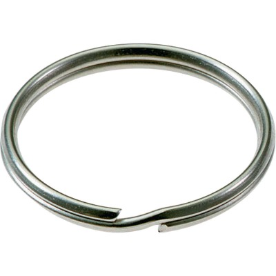 Lucky Line Tempered Steel Nickel-Plated 3/4 In. Key Ring (2-Pack)