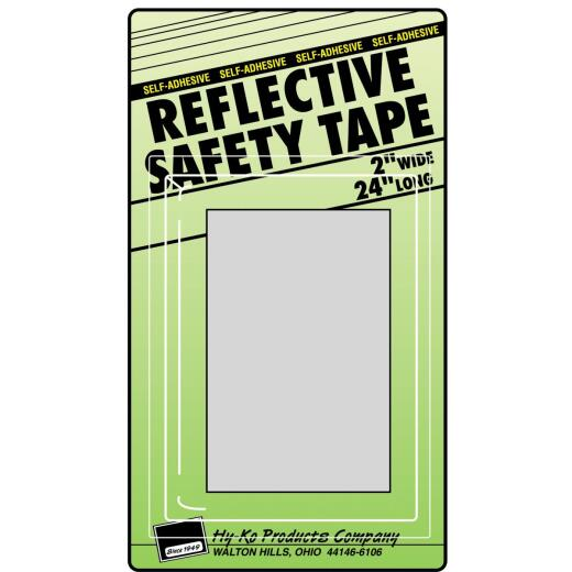 Hy-Ko 2 In. W. x 24 In. L. Silver Stripe Reflective Safety Tape