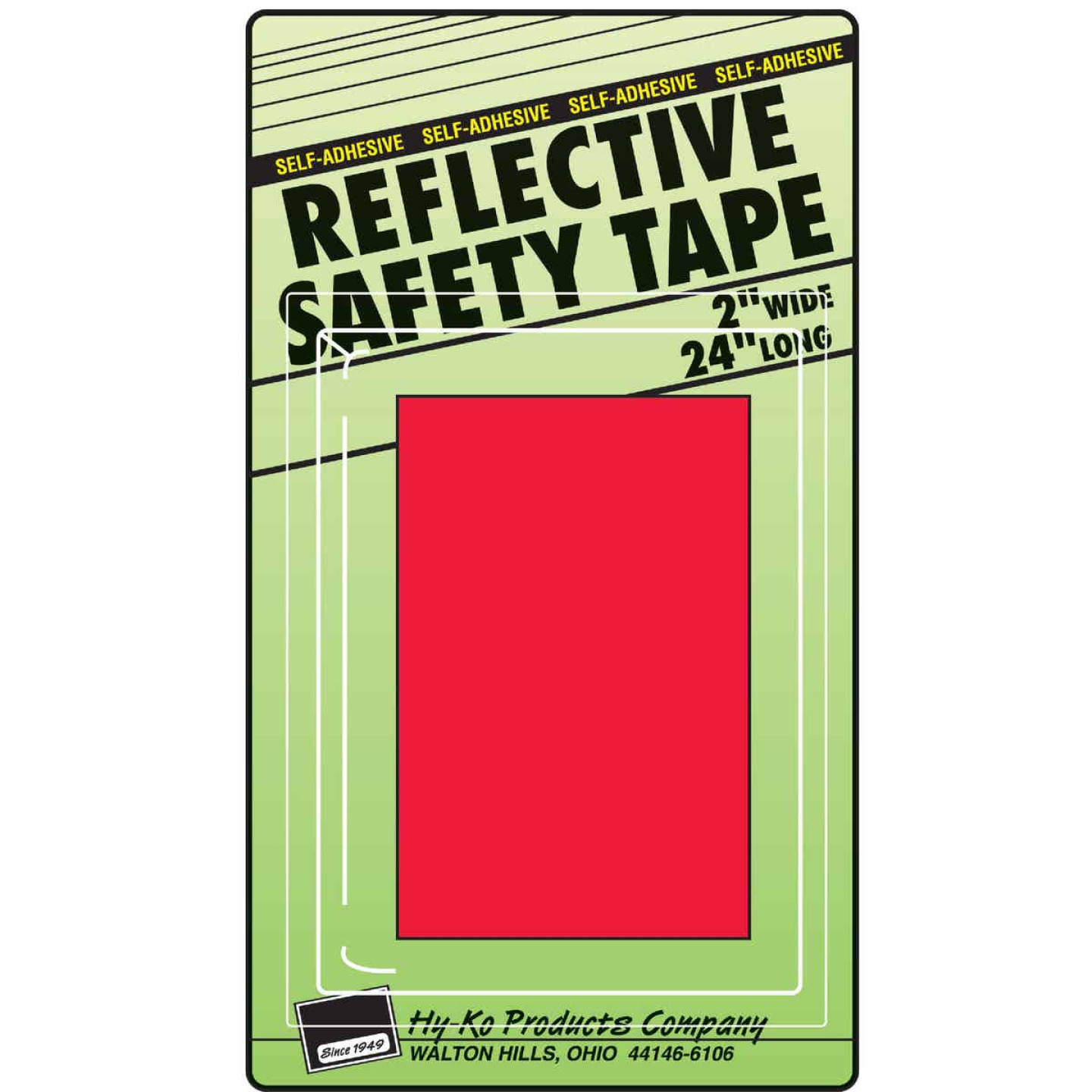 Hy-Ko 2 In. W. x 24 In. L. Red Reflective Safety Tape Image 1