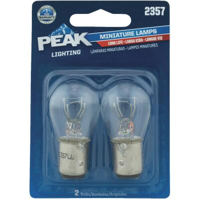 PEAK 2357 12.8/14V Mini Incandescent Automotive Bulb (2-Pack)