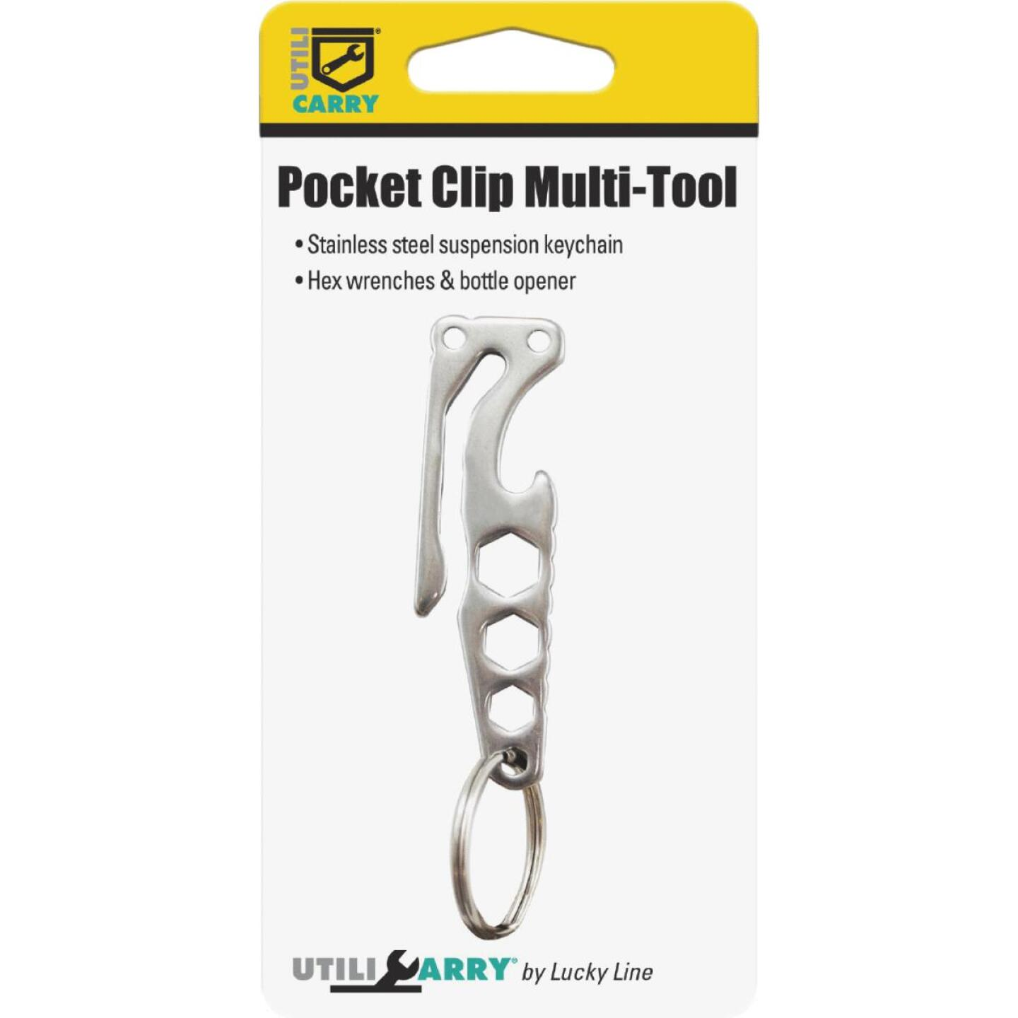 Lucky Line Utilicarry 4-In-1 Stainless Steel Pocket Clip Multi-Tool Image 2