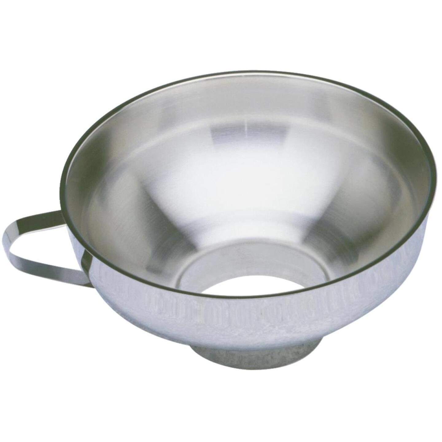 Norpro 4 Oz. Stainless Steel Wide Mouth Funnel Image 1