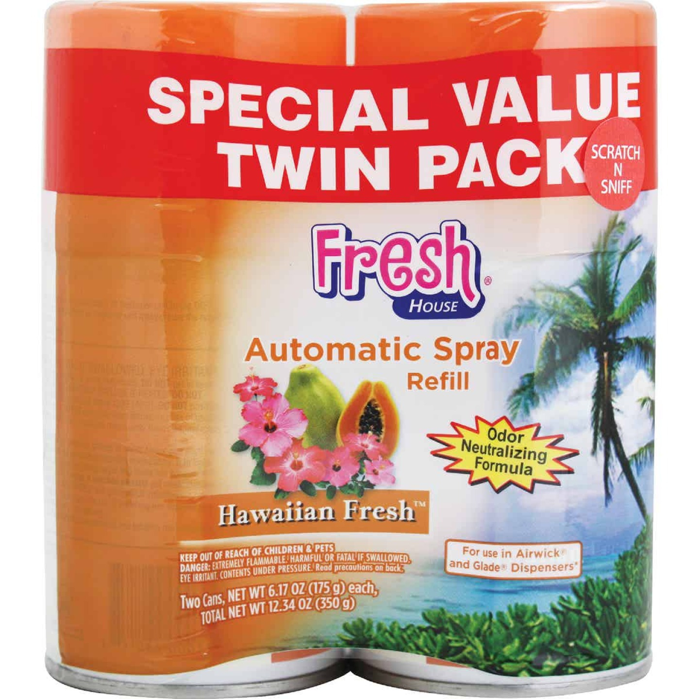 Fresh House Hawaiian Fresh Air Freshener Refill (2-Count) Image 1