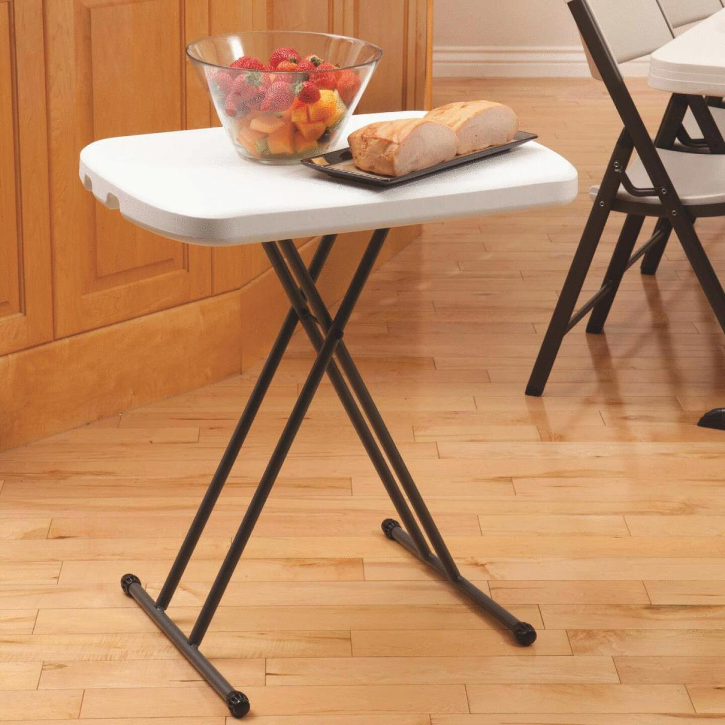 Lifetime 26 In. x 18 In. Personal Folding Table, White Granite Image 4