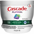 Cascade Platinum Action Pacs Fresh Dishwasher Detergent Tabs, 11 Ct. Image 1