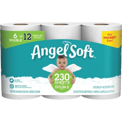 Angel Soft Toilet Paper (6 Double Rolls)