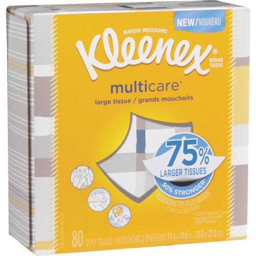 Kleenex Multicare 80 Count 2-Ply White Facial Tissue