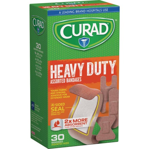 Curad Assorted Sizes Extreme Hold Bandages, (30 Ct.)