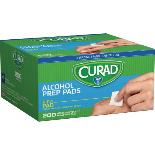 Curad 1 In. x 1 In. 70% Alcohol Swabs (200 Ct.)