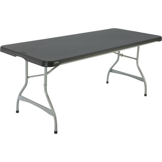 Lifetime 6 Ft. x 30 In. Black Commercial Stackable Folding Table