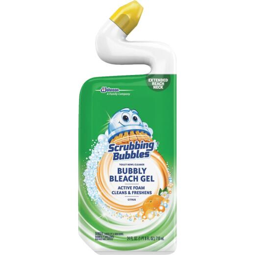 Scrubbing Bubbles 24 Oz. Citrus Foaming Bleach Gel Toilet Bowl Cleaner