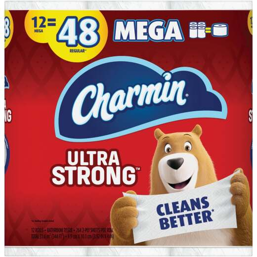 Charmin Ultra Strong Toilet Paper (12 Mega Rolls)