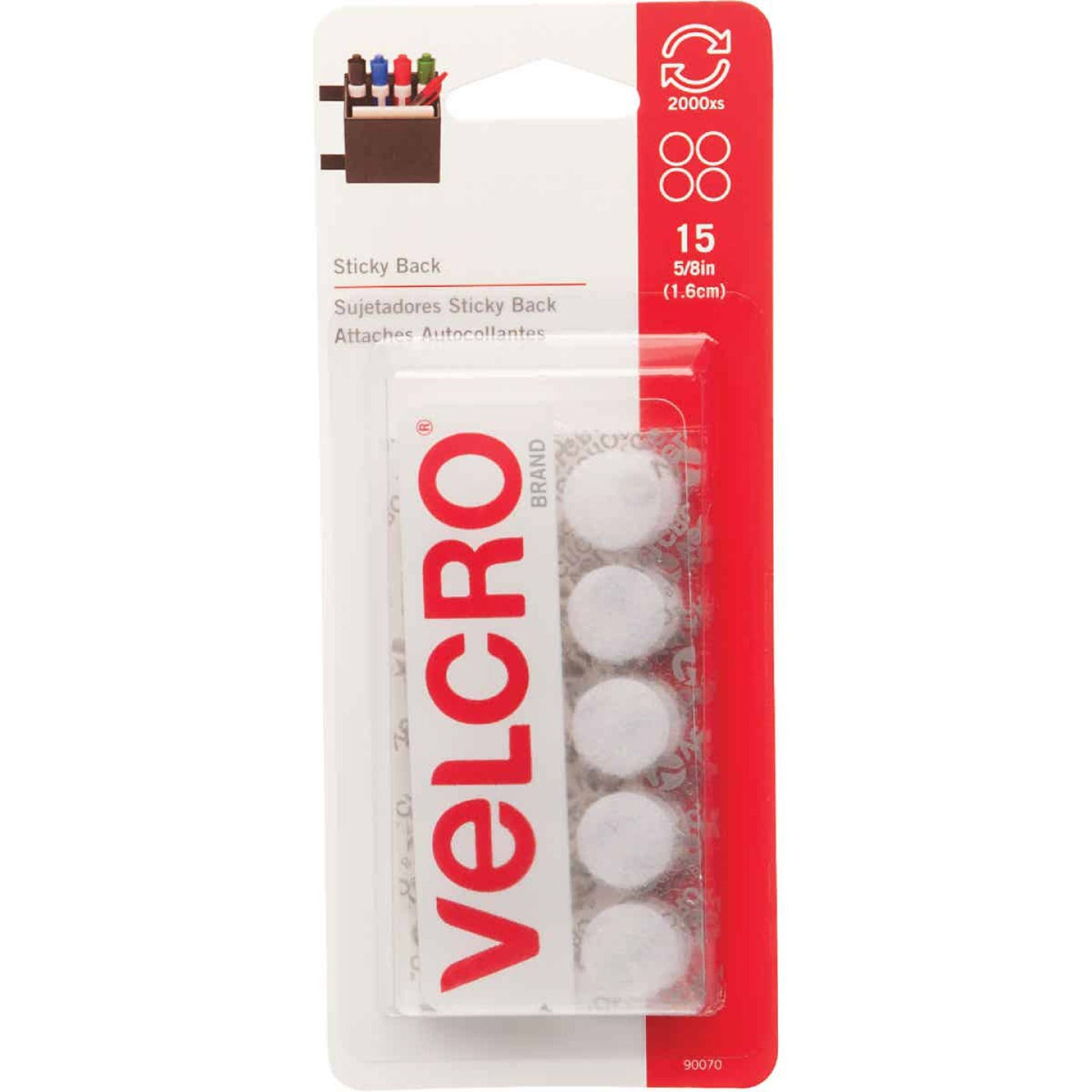 VELCRO Brand 5/8 In. White Hook & Loop Discs (15 Ct.) Image 1
