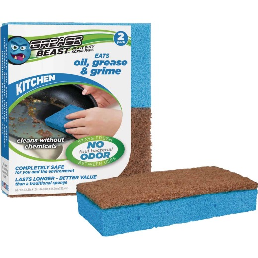 Grease Beast Kitchen Scrub Pad (2 Pack)