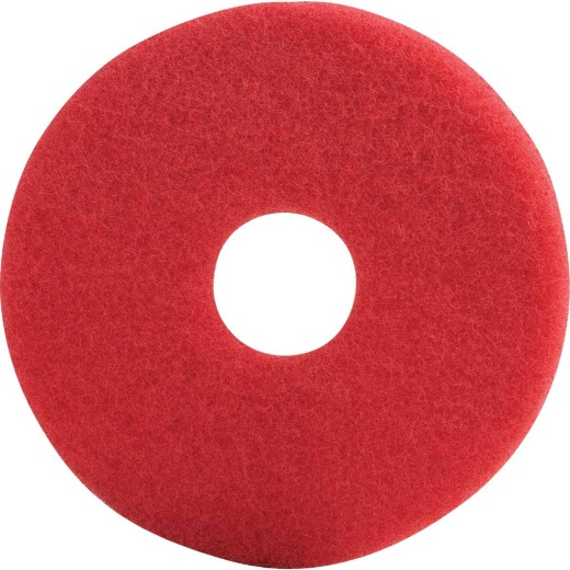 Lundmark 13 In. High Gloss Red Scrub Pad