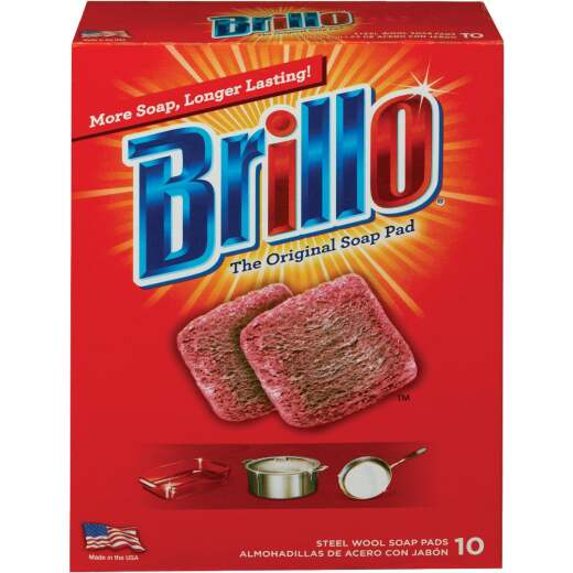 Brillo Original Steel Wool Scouring Pad (10 Count)