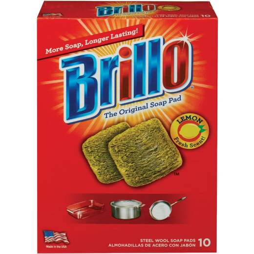 Brillo Lemon Steel Wool Scouring Pad (10 Count)