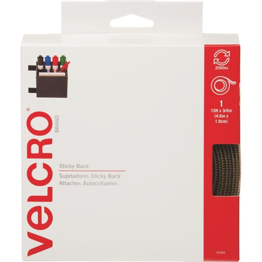 VELCRO Brand 3/4 In. x 15 Ft. Beige Sticky Back Reclosable Hook & Loop Roll