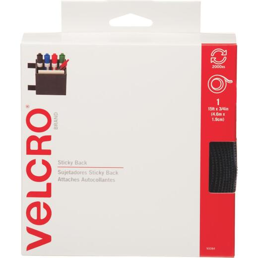 VELCRO Brand 3/4 In. x 15 Ft. Navy Sticky Back Reclosable Hook & Loop Roll