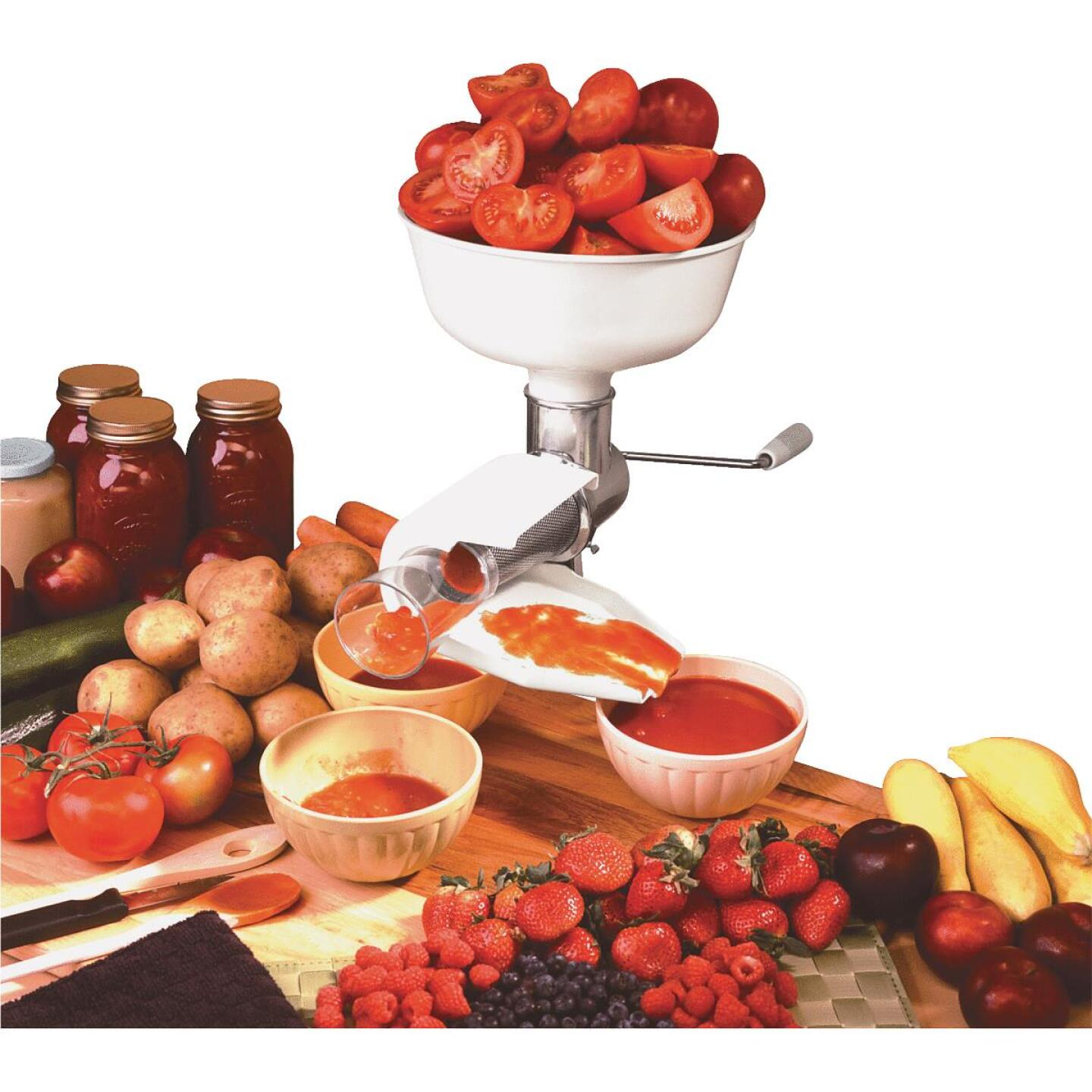 Sauce Master 6 In. x 3.5 In. Vegetable & Fruit Strainer - Salsa Screen Image 3
